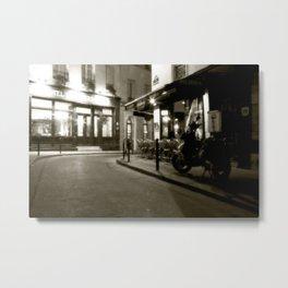 A Sidestreet in Paris, France Metal Print