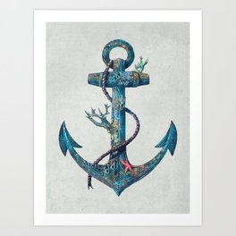 Lost at Sea Art Print