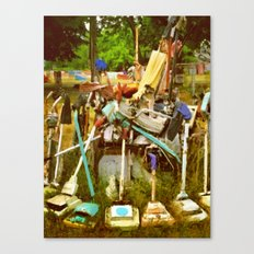 Detroit Heidelberg Project Vacuums Canvas Print