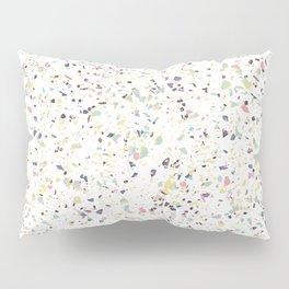 Classy vintage marble terrazzo pastel abstract design Pillow Sham