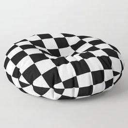 Black & White Checkered Pattern Floor Pillow