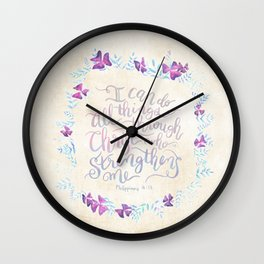 I Can Do All Things - Philippians 4:13 Wall Clock