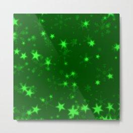 Blurry Stars green Metal Print