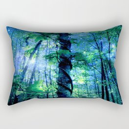 Forest of the Fairies Blue Night Rectangular Pillow