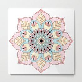 Pastel colors mandala Metal Print