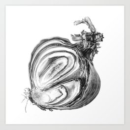 Withered Onion Art Print