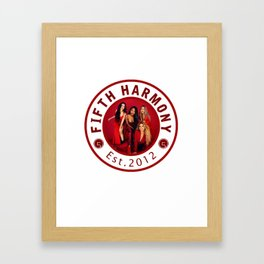 FIFTH HARMONY RED PHOTO CIRCLE Framed Art Print