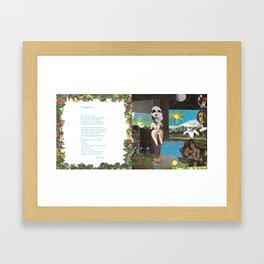 Timewhere with Poem by Jeff Khurgel Framed Art Print