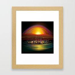 Harbor Square Framed Art Print