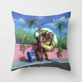 The Abominable Snowman of Pasadena Throw Pillow