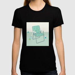 Retro Summer Lawn Chair and Croquet T-shirt