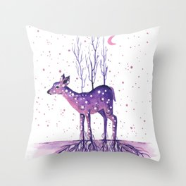 Rooted Deer Throw Pillow