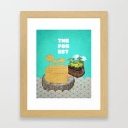 the forest Framed Art Print