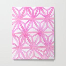 Pink Asanoha Metal Print