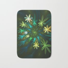 Fantasy Flowers, Fractal Art Bath Mat