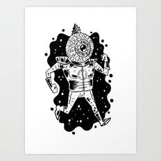 Interstellar Eye Guy Art Print