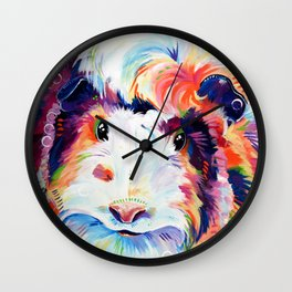 Abyssinian Guinea Pig in Color Wall Clock