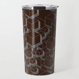 3D Futuristic Cubes VI Travel Mug