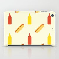 hot dog iPad Cases featuring Hot dog by Will Wild