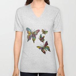 Butterflies Unisex V-Neck