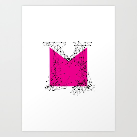 M (abstract geometrical type) Art Print