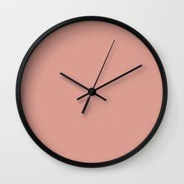 Beige powder color. Wall Clock