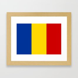 Romania country flag Framed Art Print