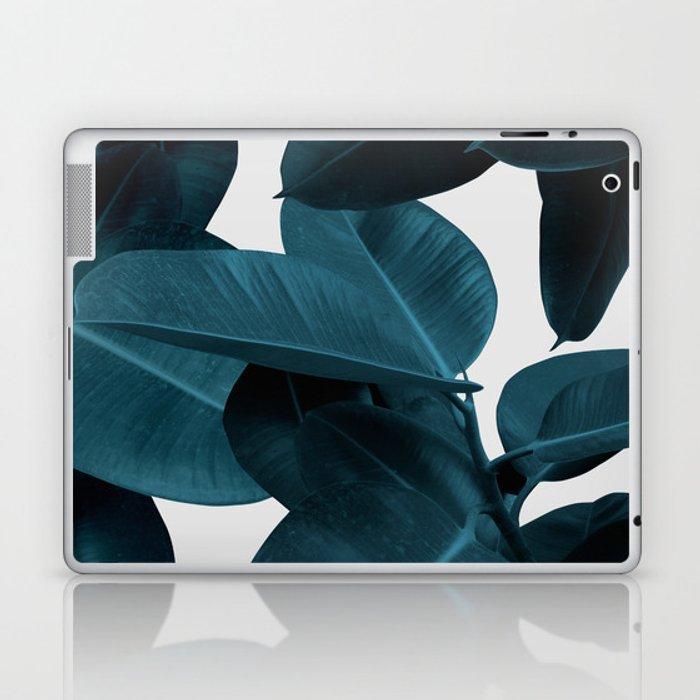 Indigo Plant Leaves Laptop & iPad Skin