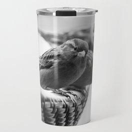 Sparrows On Chair Back Travel Mug