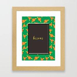 bisous Framed Art Print
