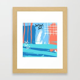 Abstract Blue Grunge Framed Art Print