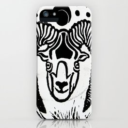 Mystical Goat iPhone Case