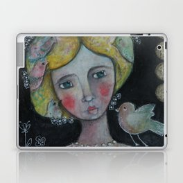 Lady with Flying Thoughts Laptop & iPad Skin