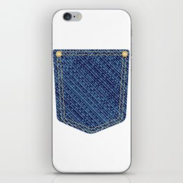Plain Denim Pocket iPhone Skin