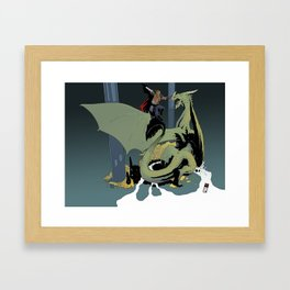 At the Dragon's Lair Framed Art Print