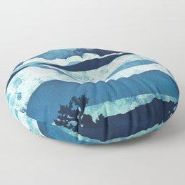 Blue Desert Floor Pillow