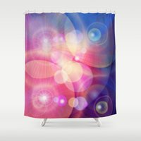 lights Shower Curtains featuring lights by haroulita