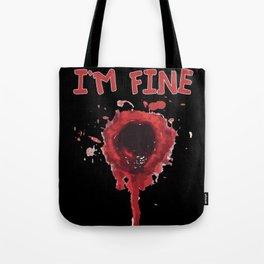 Bloody Gunshot Sarcasm Halloween Humor Tote Bag