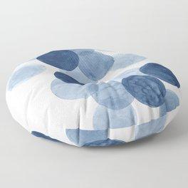 Indigo Ombre Circles Floor Pillow