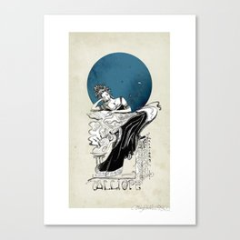 Calliope, The Muse of Epic Poetry Canvas Print