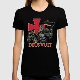 Knights Templar Cross Deus Vult Medieval Holy Warrior Crusader T-shirt