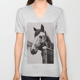 Horse Greeting A Stranger Unisex V-Neck