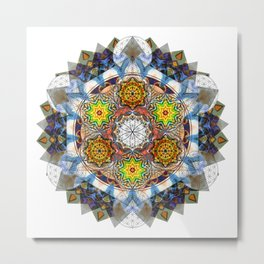 Upwards - The Mandala Collection Metal Print