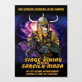 Singe-viking vs Sorcier-ninja Canvas Print