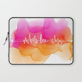 Love Beat Watercolor back Laptop Sleeve