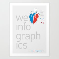 We Love Infographics Art Print