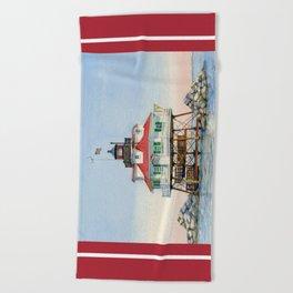 Thomas Point Light Beach Towel