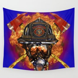 Firefighter rescue volunteer Wall Tapestry