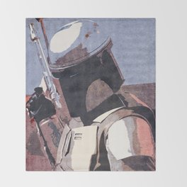 Bobba Fett | The Bounty Hunter | Star War Art Throw Blanket