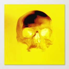 Yellow Skull Canvas Print